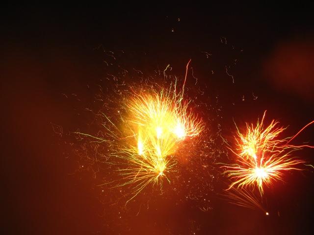 Fireworks Demonstration near Berlin